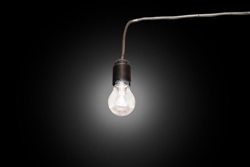 light bulb in the socket