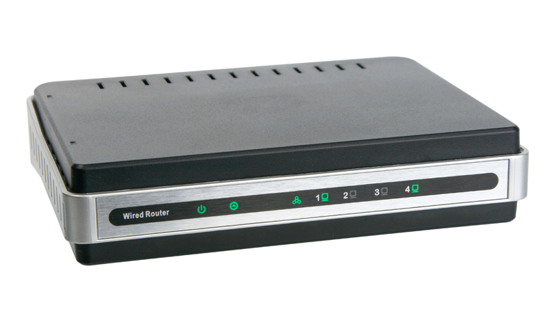 Front view of network wired router