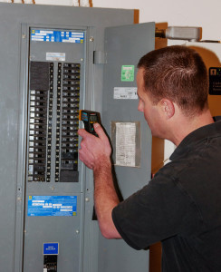 Electrical systems should be checked for current protection, evidence of overheating or electrical events, proper wiring practices, grounding, bonding, polarity, voltage, and the presence of aluminum wiring, knob-and-tube wiring or recalled electrical panels which can be serious safety and fire hazards.