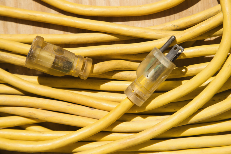 Yellow extension cord.